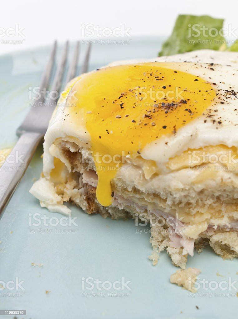 Serving of Croque Madame royalty-free stock photo