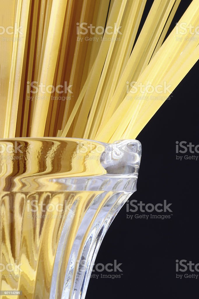 Serving of raw pasta royalty-free stock photo
