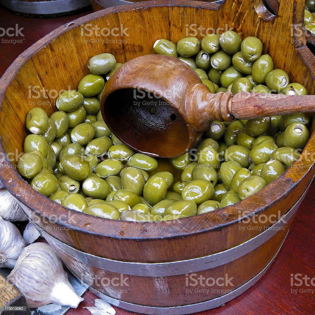 Serving olives royalty-free stock photo