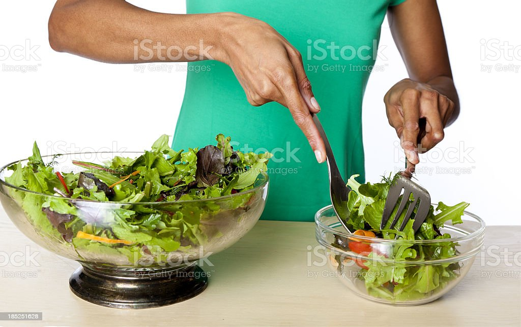serving salad royalty-free stock photo