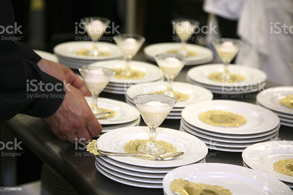 Serving Sorbet Course royalty-free stock photo