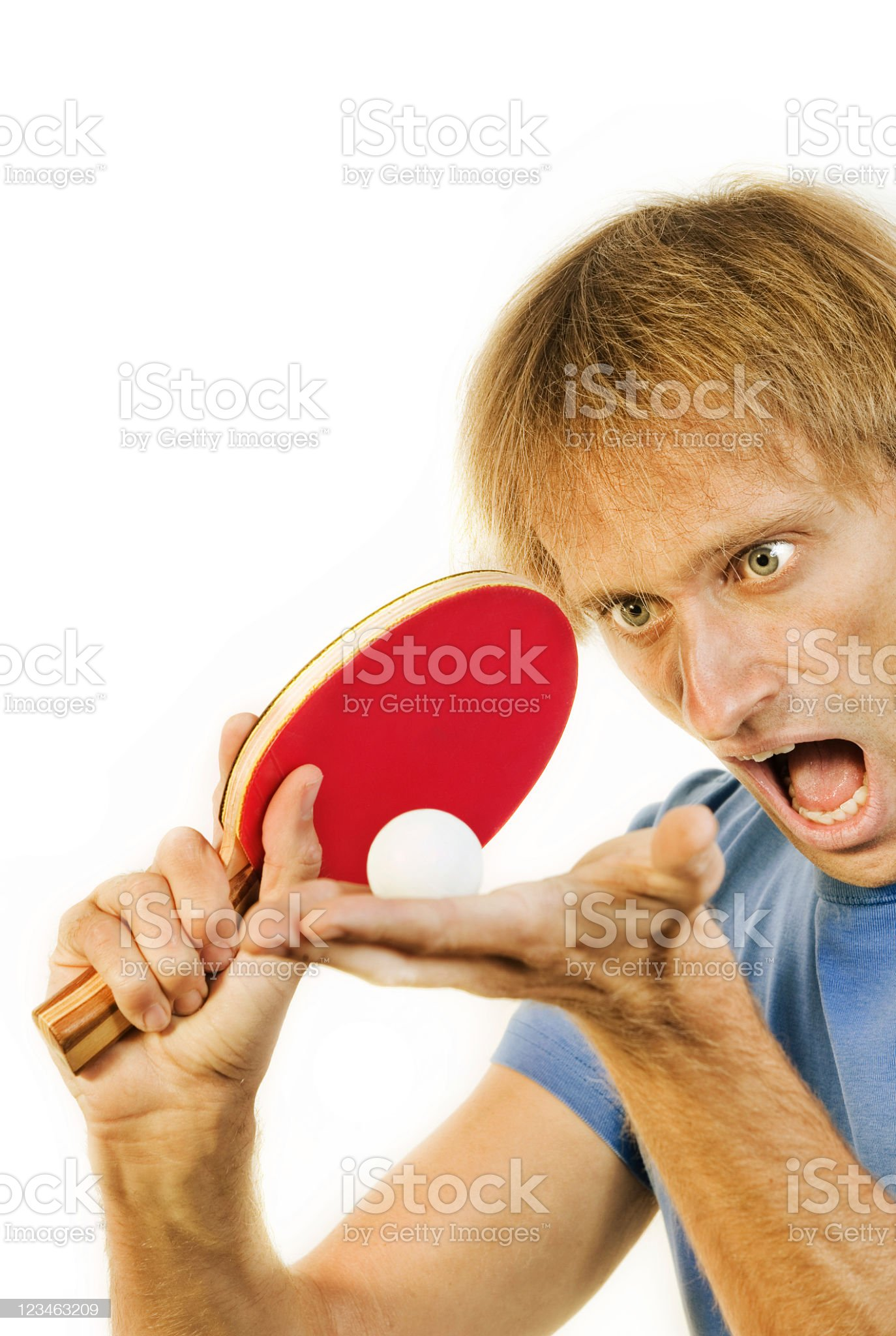 Serving table tennis player royalty-free stock photo