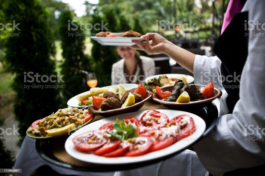 Serving tasteful food XXL royalty-free stock photo