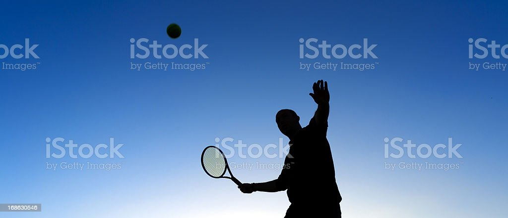 serving tennis royalty-free stock photo