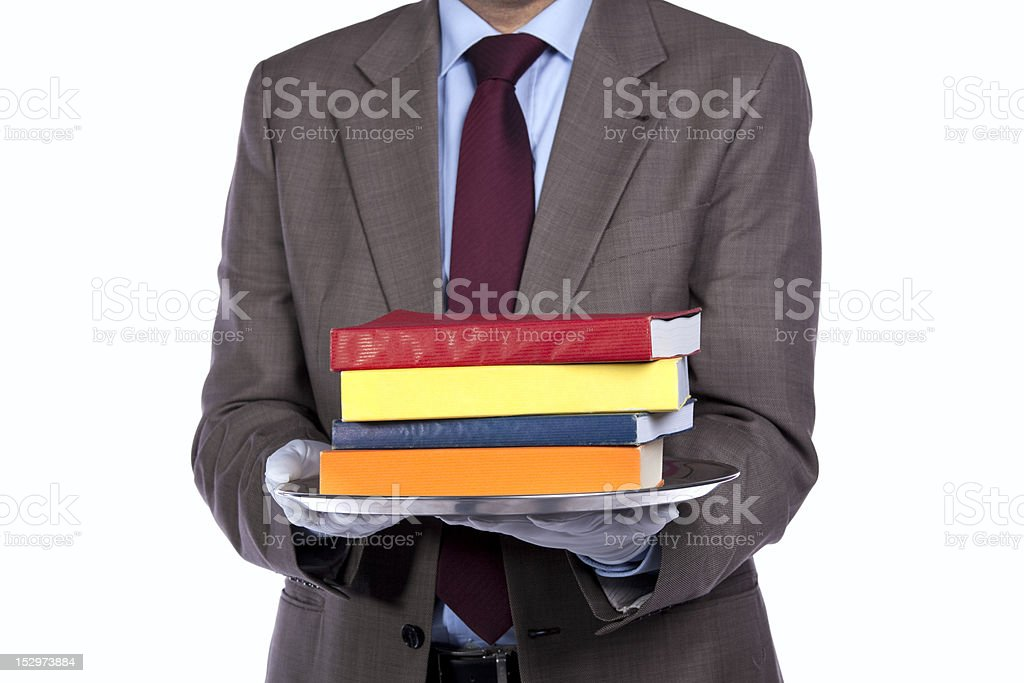 Serving the best education service royalty-free stock photo