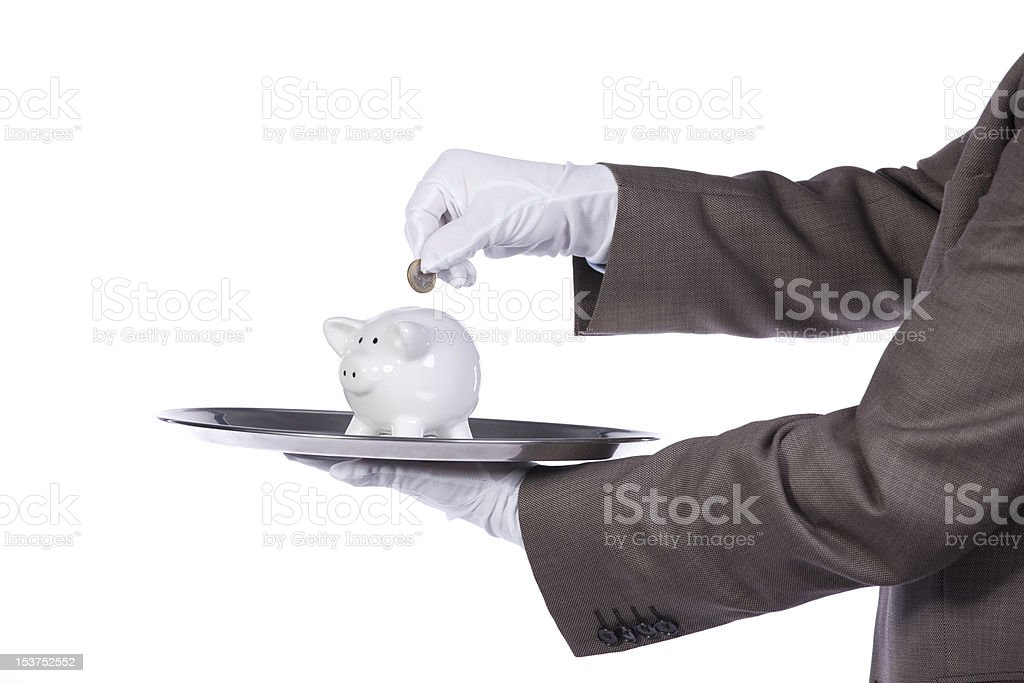 Serving the best finance service royalty-free stock photo