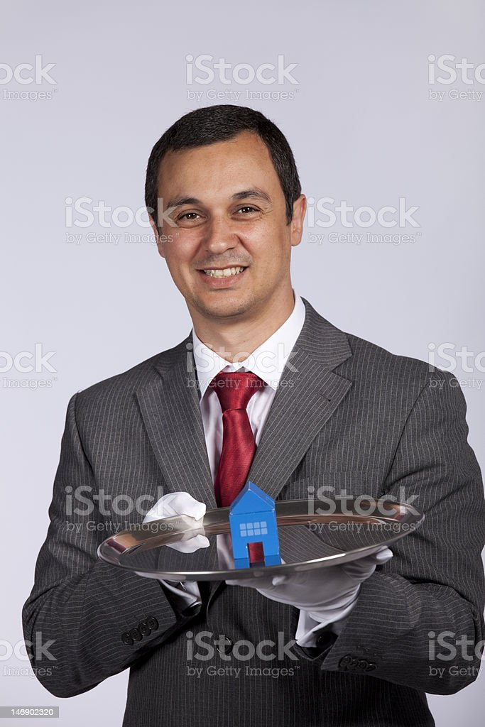 Serving the best house service royalty-free stock photo