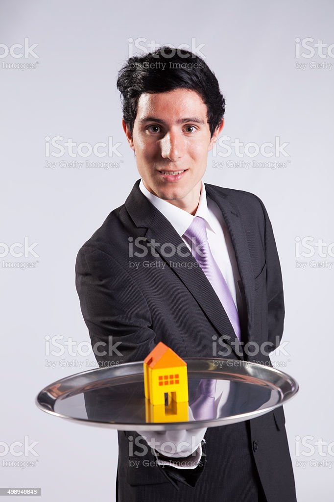 Serving the best house service stock photo