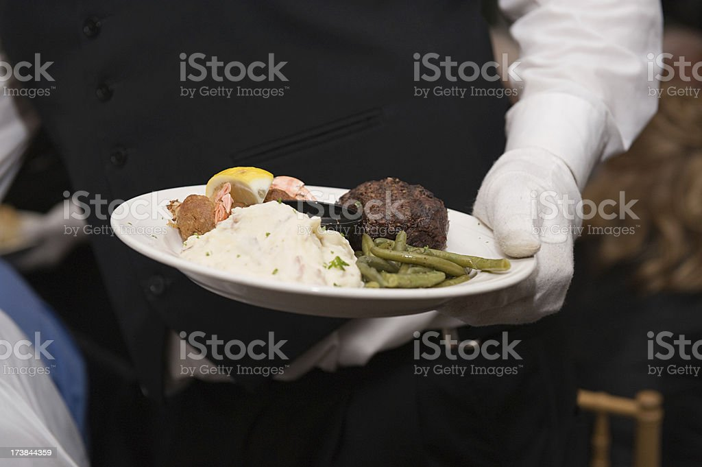 Serving the main course royalty-free stock photo