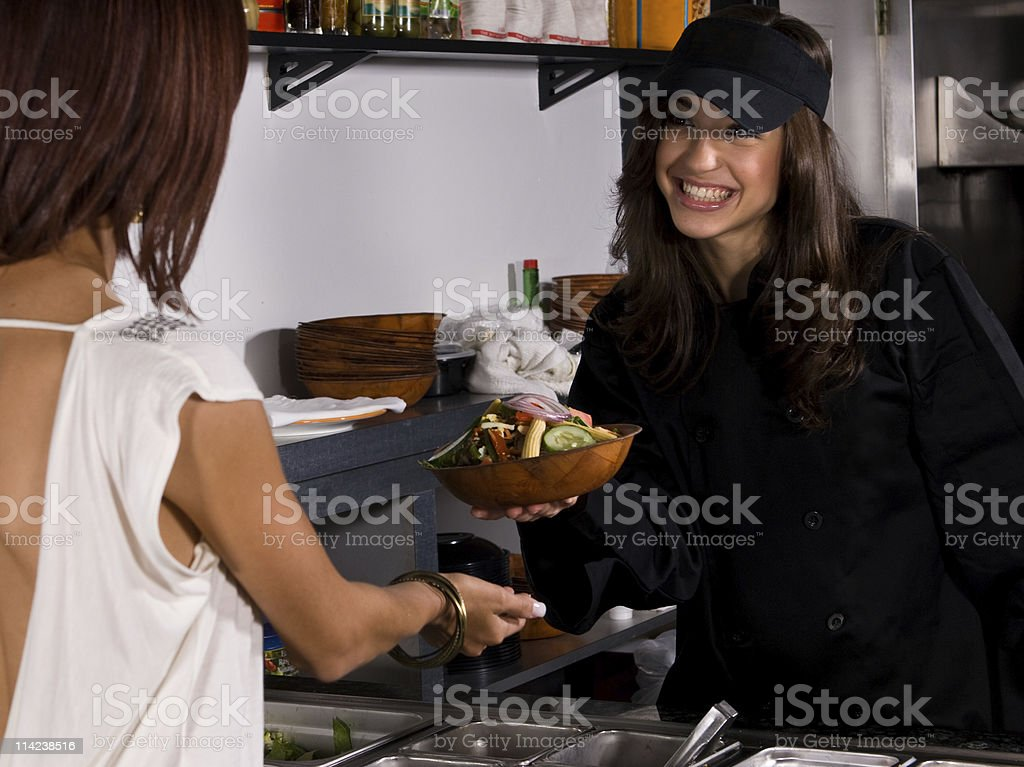 serving the salad royalty-free stock photo
