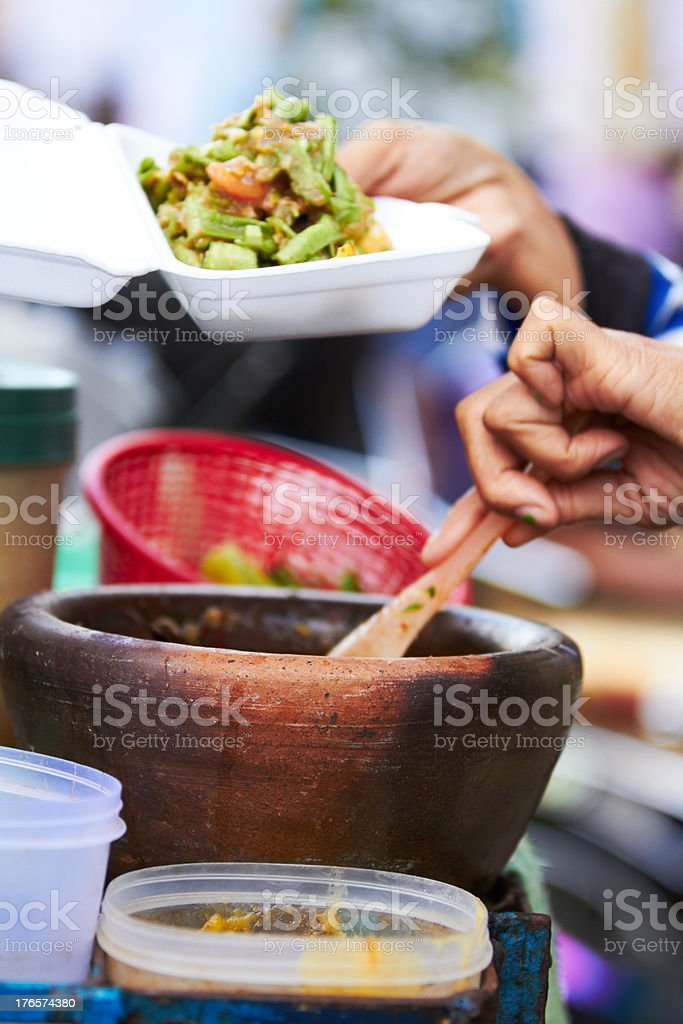 Serving up a dish royalty-free stock photo