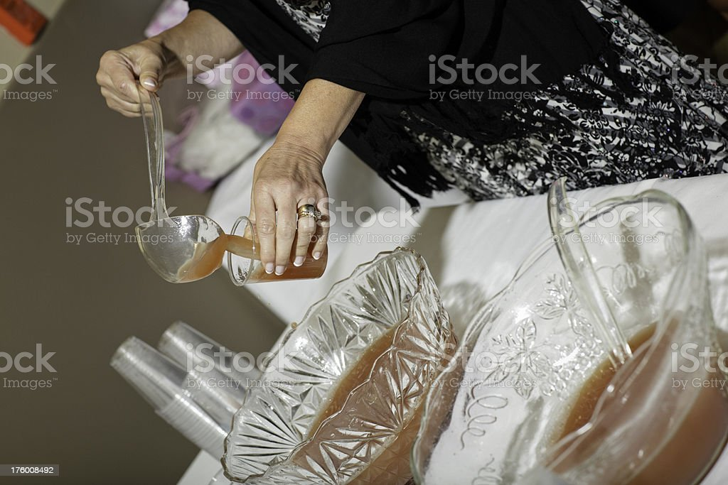 Serving Wedding Punch stock photo