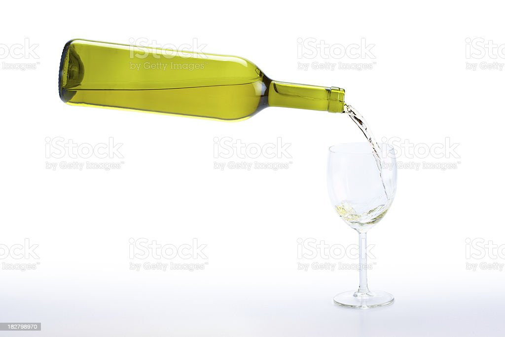 serving white wine royalty-free stock photo