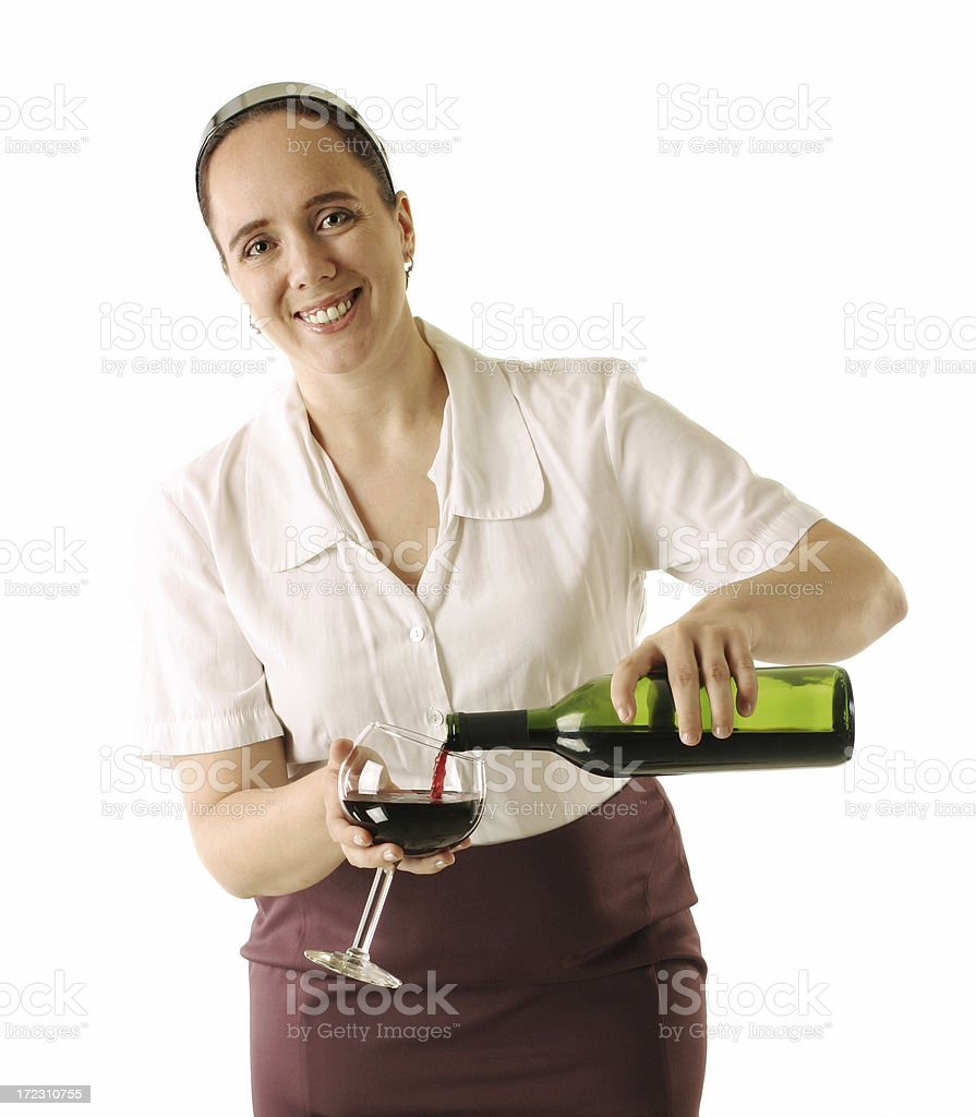 Serving Wine royalty-free stock photo