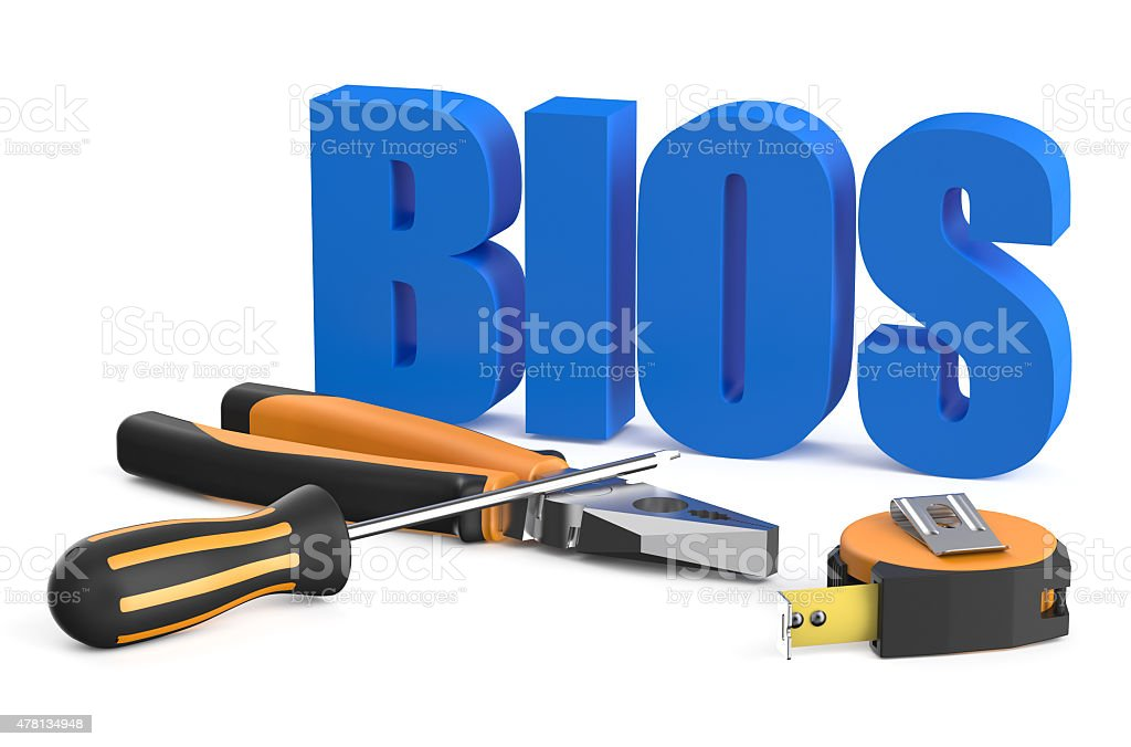 BIOS servise and repair concept stock photo