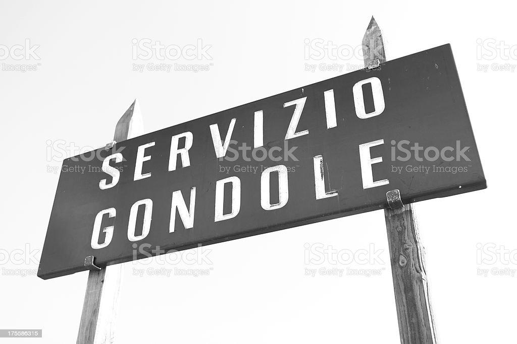 servizio gondole royalty-free stock photo