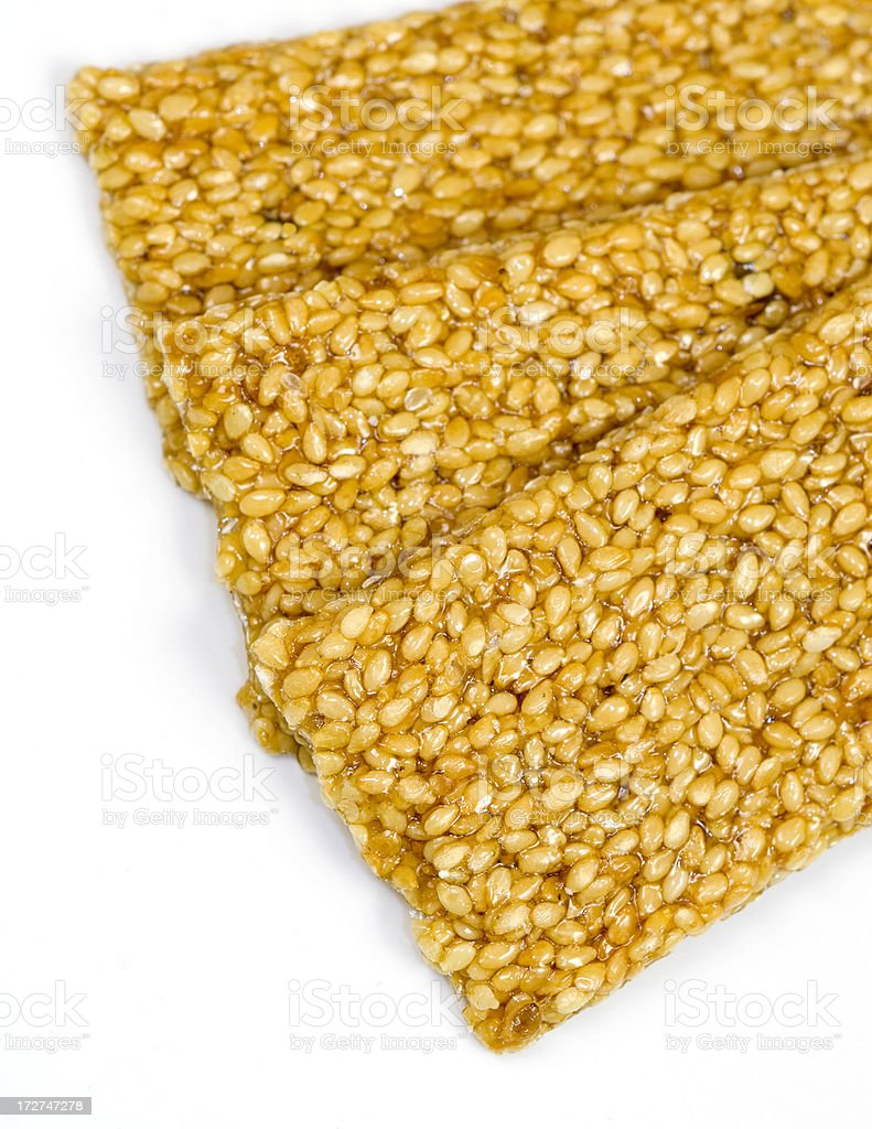 Sesame brittles snack royalty-free stock photo
