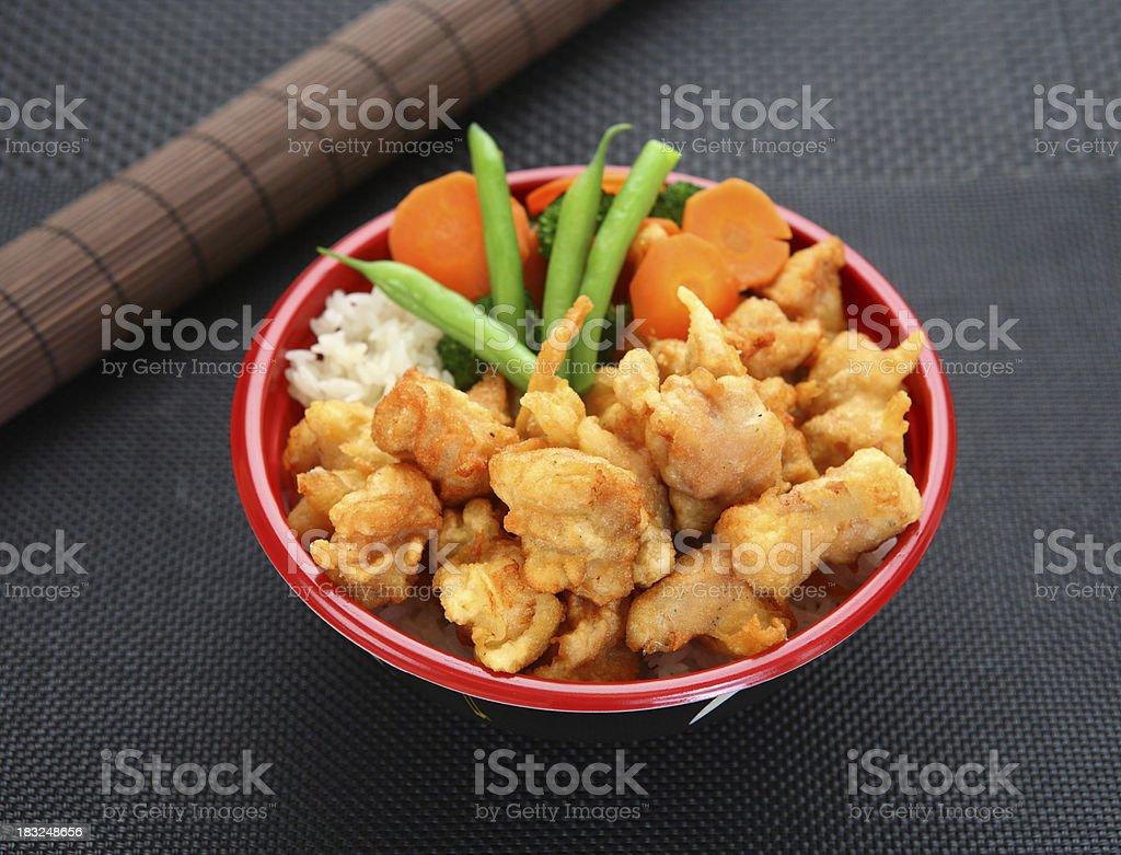 Sesame Chicken Bowl royalty-free stock photo