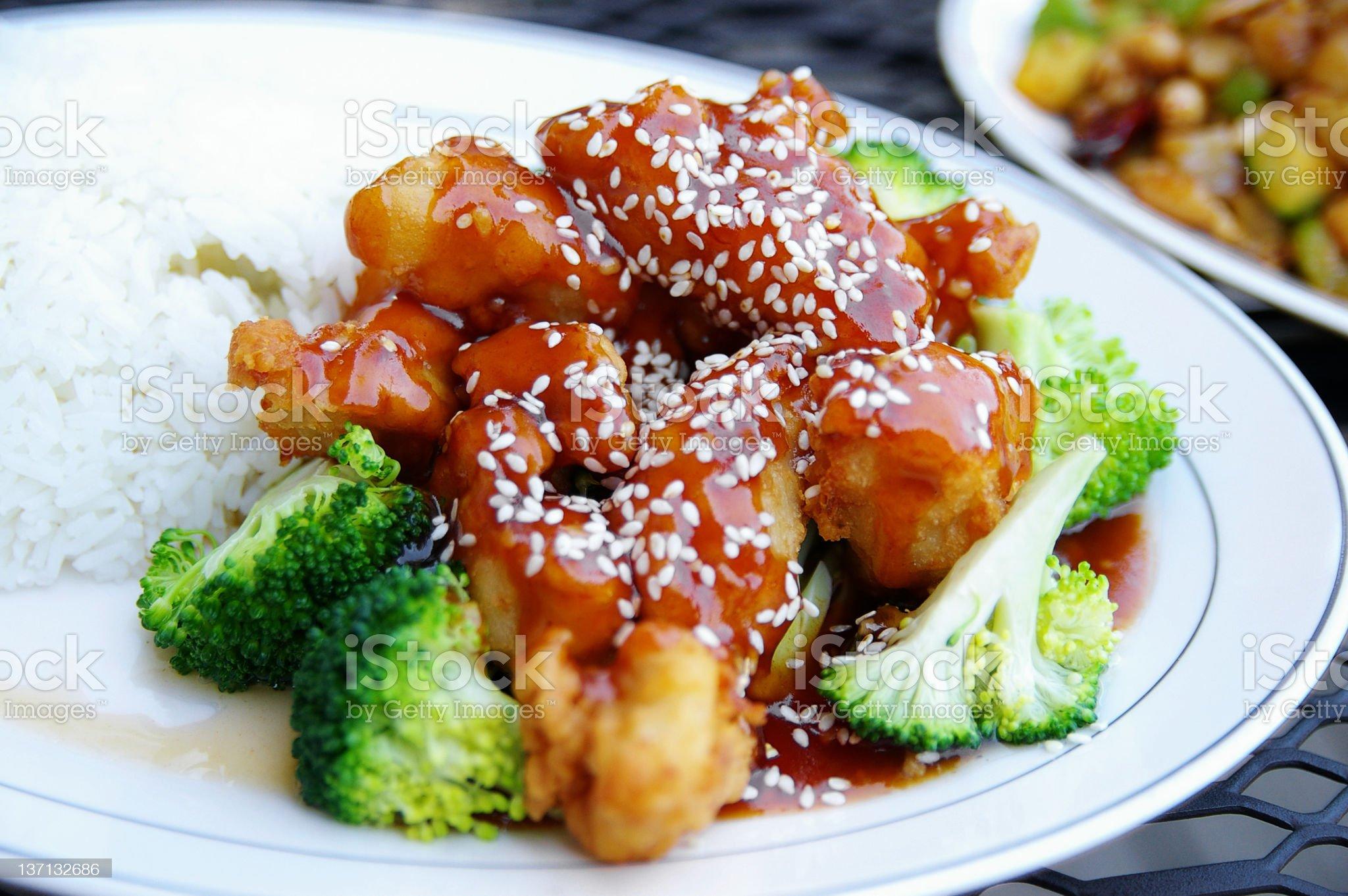 Sesame chicken royalty-free stock photo
