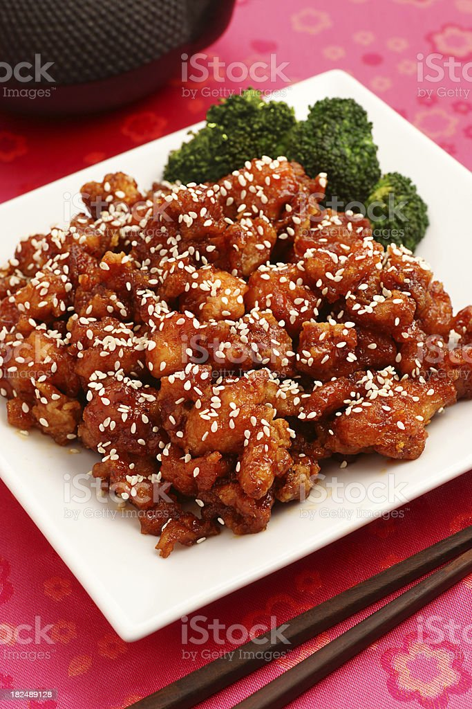 Sesame Chicken royalty-free stock photo