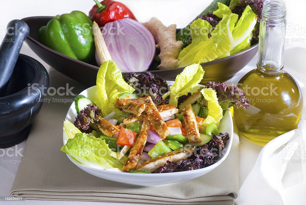 sesame chicken salad royalty-free stock photo