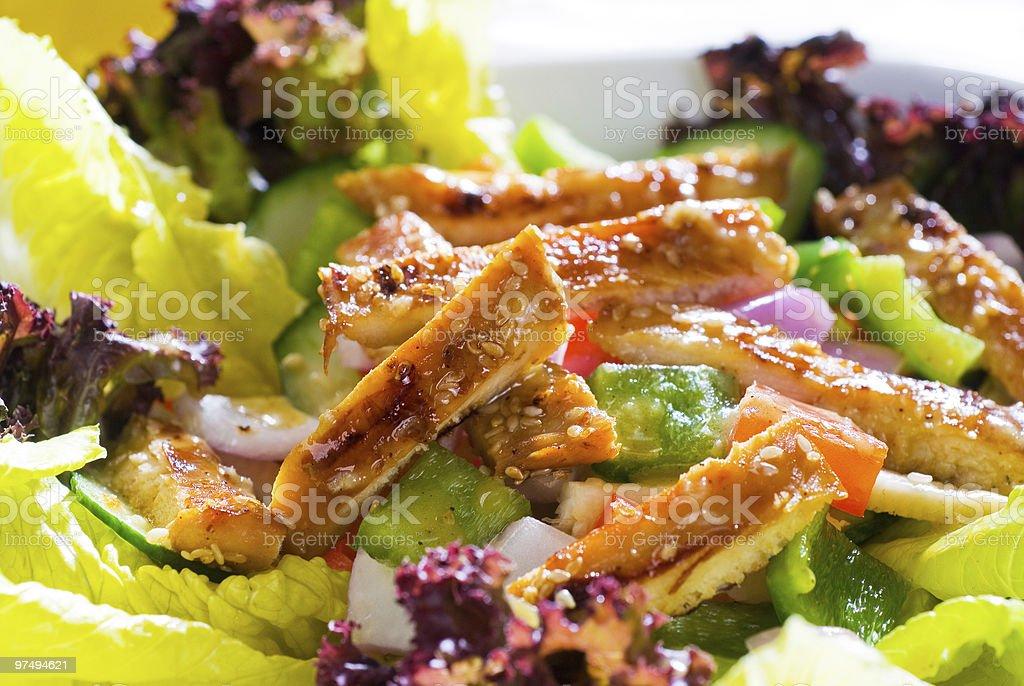 sesame chicken salad royalty-free stock photo