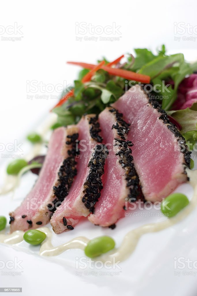 Sesame Crusted Ahi Tuna royalty-free stock photo
