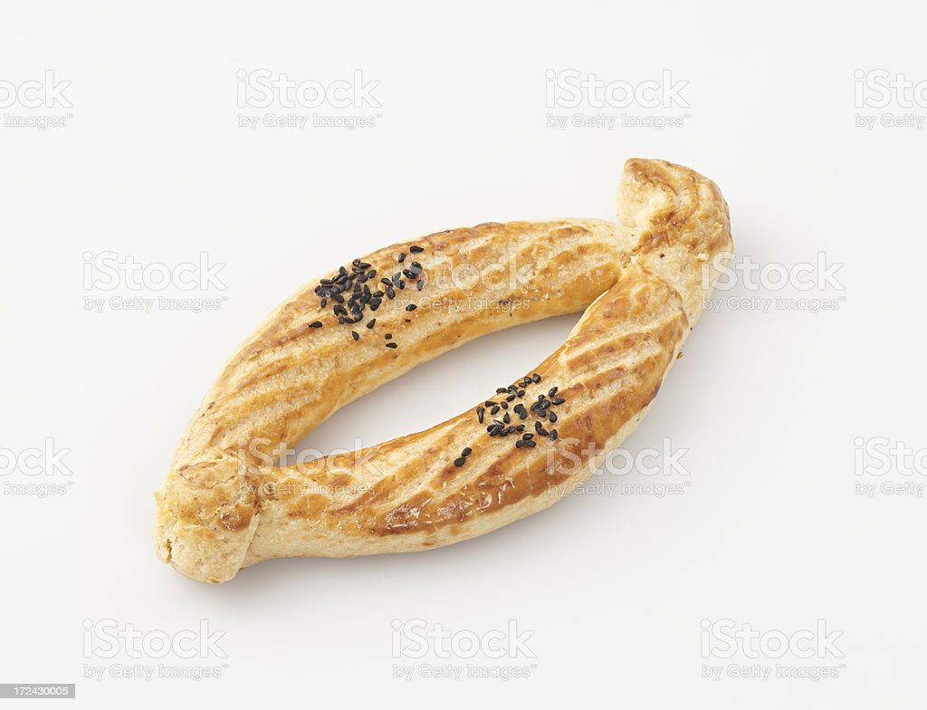 Sesame crusted pasty royalty-free stock photo
