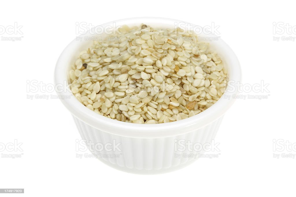 Sesame in a small bowl royalty-free stock photo