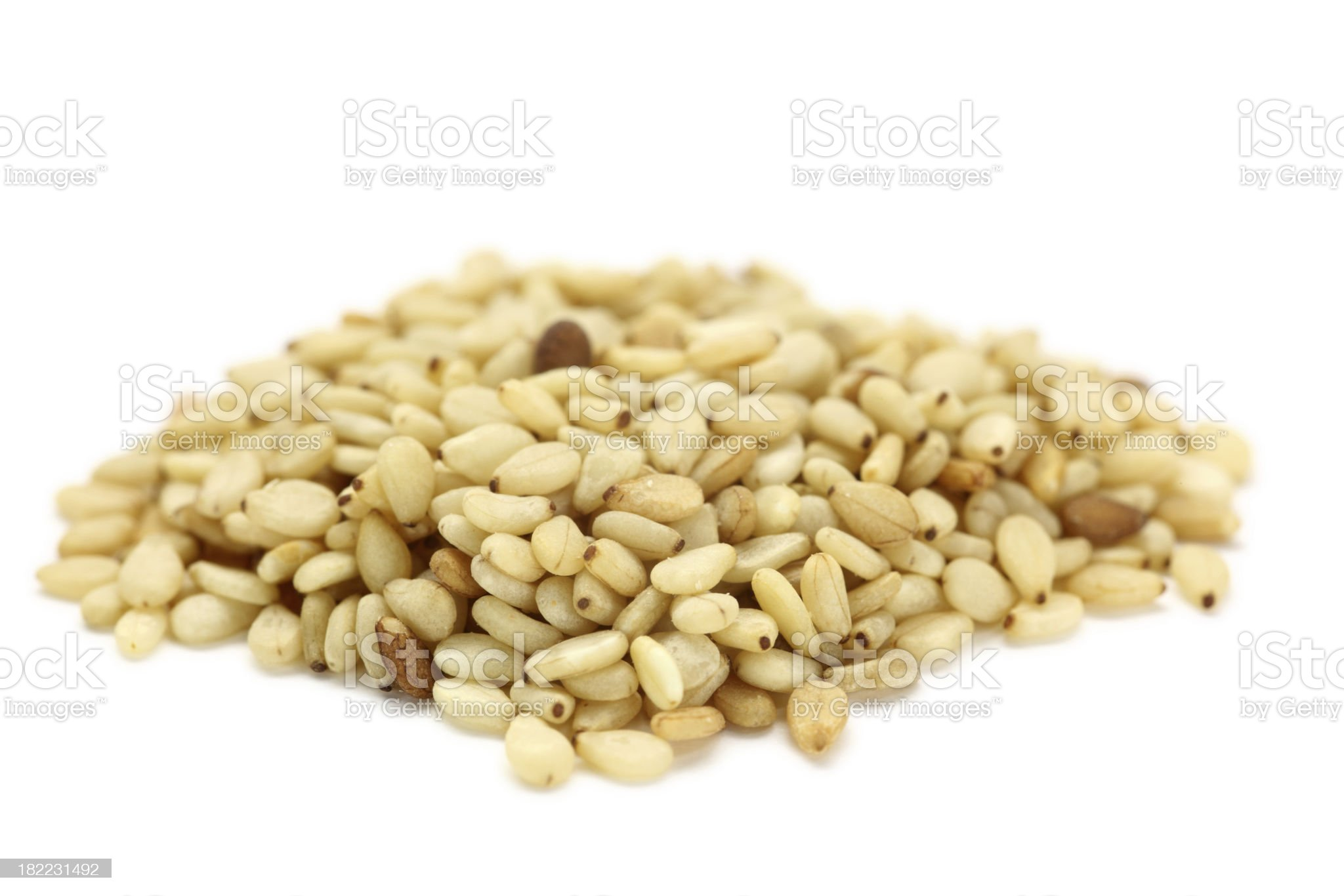 sesame isolated on white royalty-free stock photo
