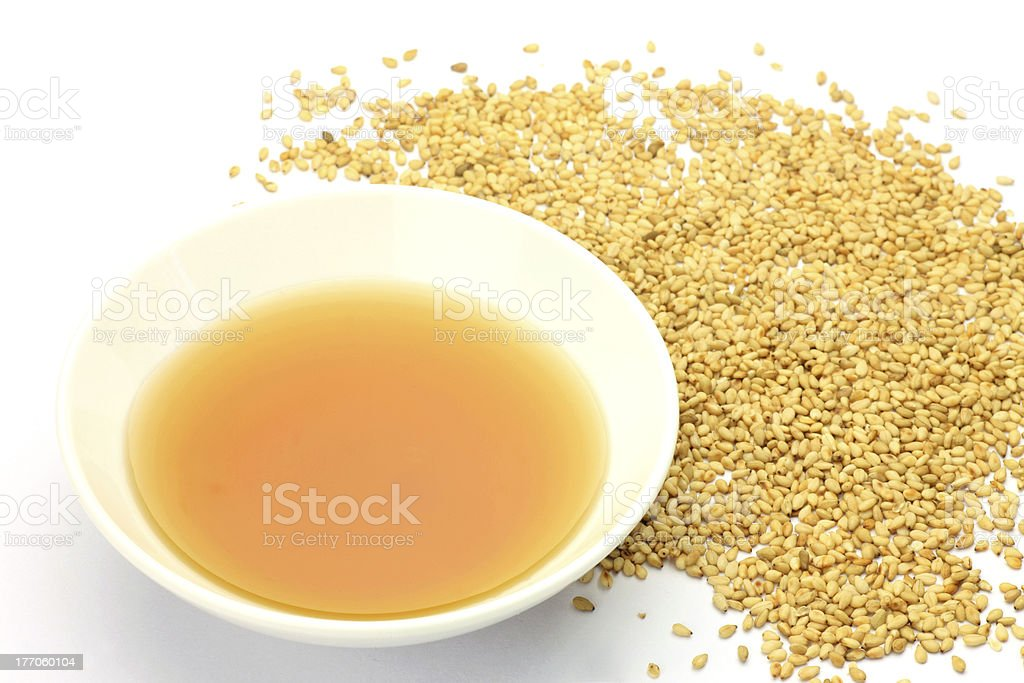sesame oil stock photo