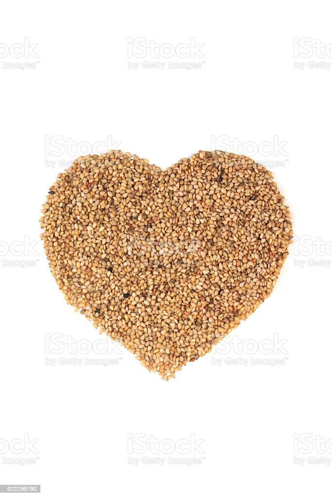 Sesame on a white background. stock photo