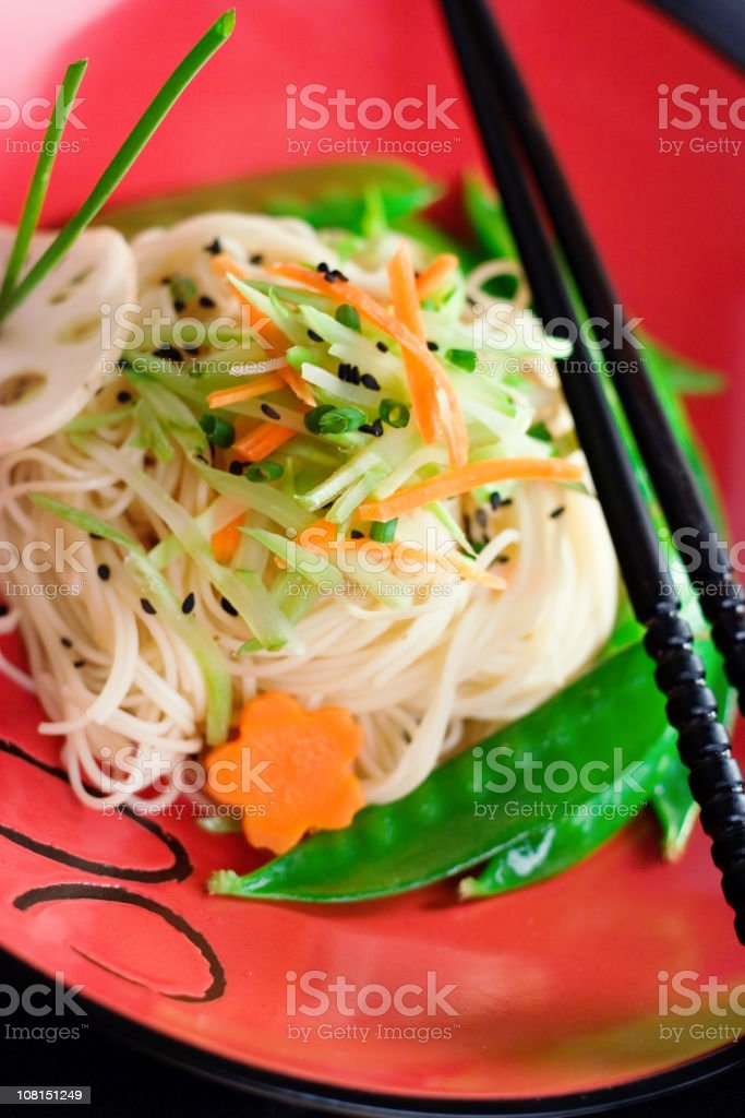 Sesame Ramen with Vegetables royalty-free stock photo