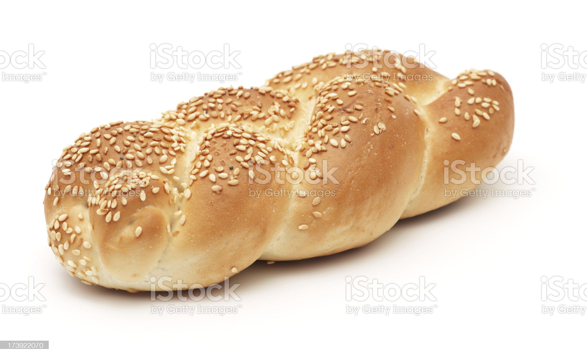 Sesame roll isolated on white royalty-free stock photo
