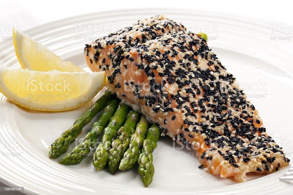 Sesame Salmon royalty-free stock photo
