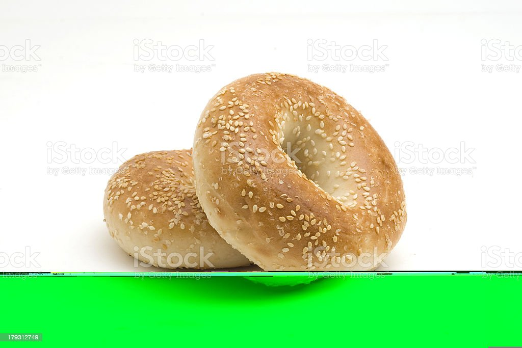 Sesame Seed Bagels royalty-free stock photo