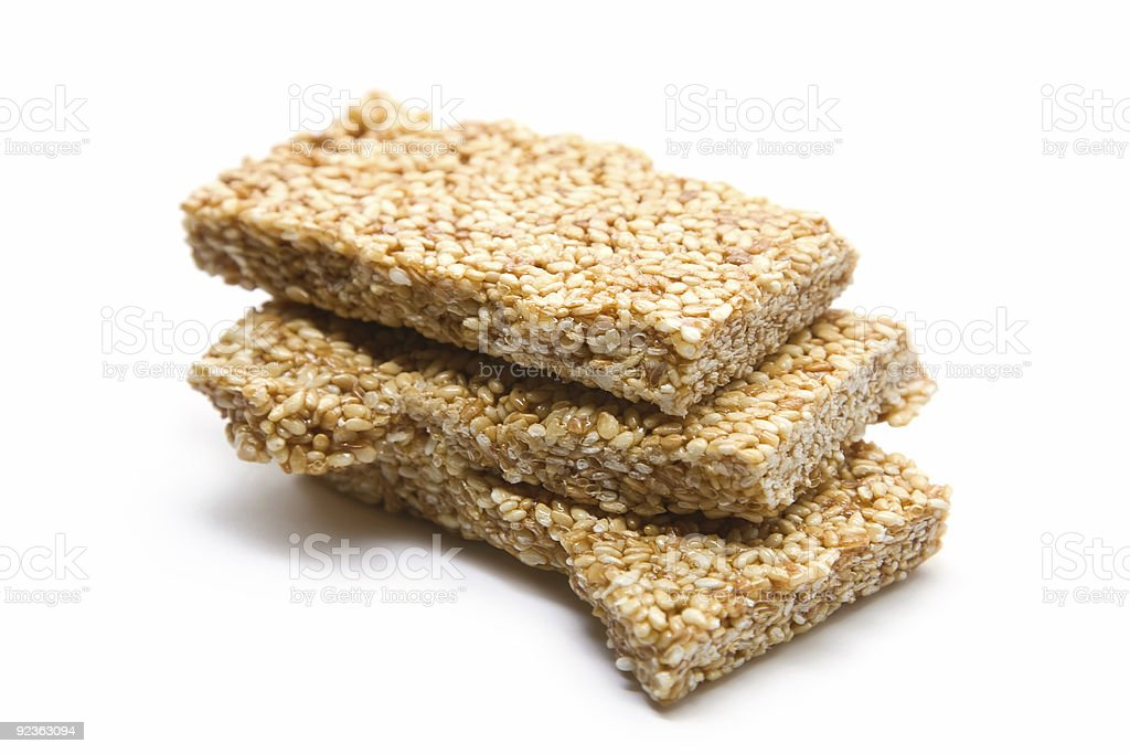 Sesame Seed Bars stock photo