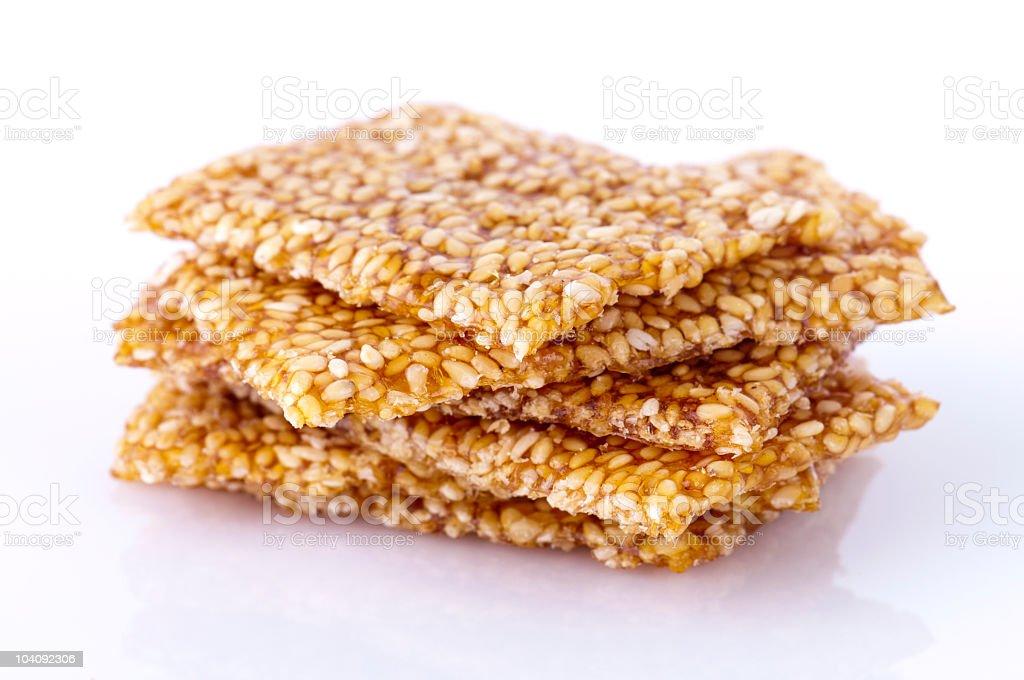Sesame snack royalty-free stock photo