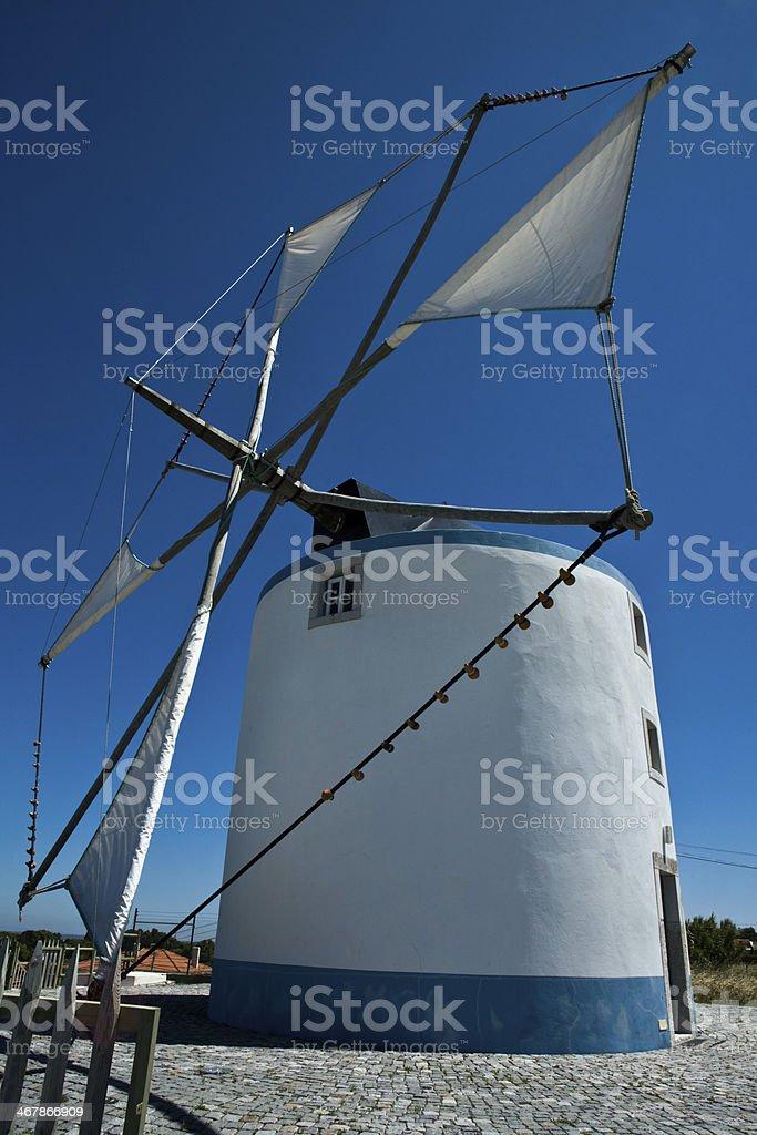 Sesimbra windmill stock photo
