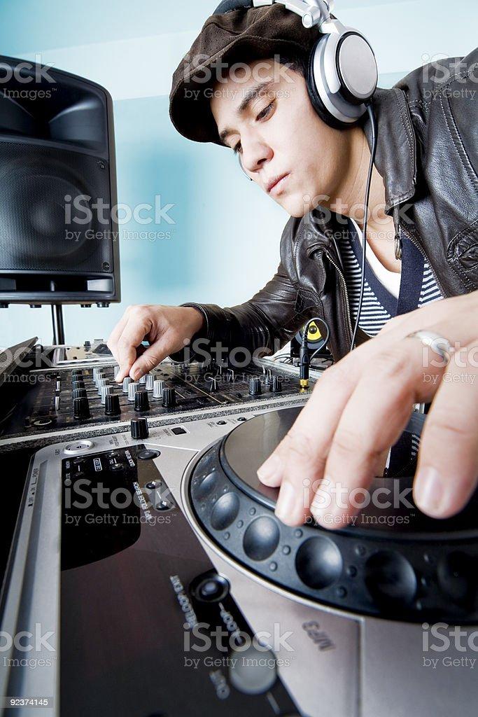DJ sesion royalty-free stock photo