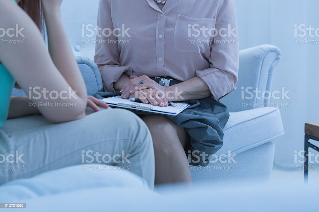 Session with the psychiatrist stock photo