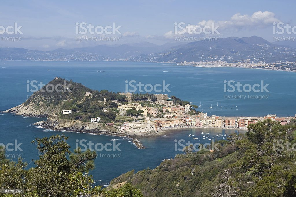 Sestri Levante, bay of silence stock photo
