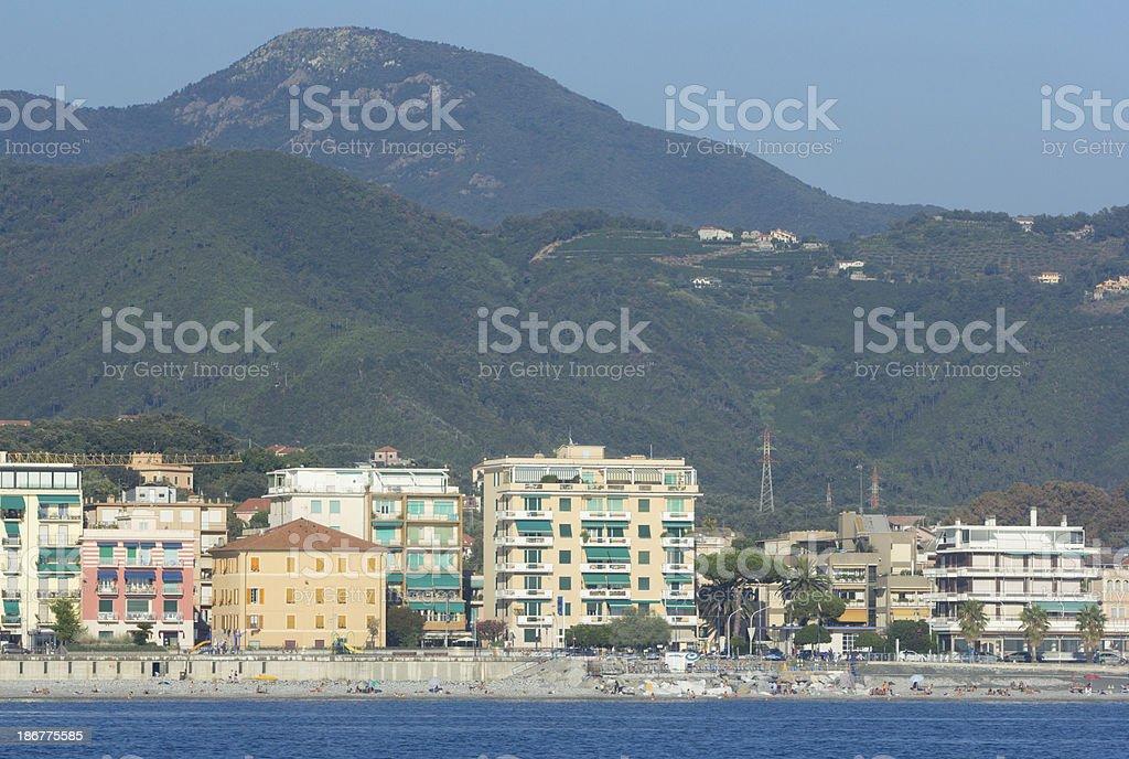 Sestri Levante in Liguria, Italy royalty-free stock photo