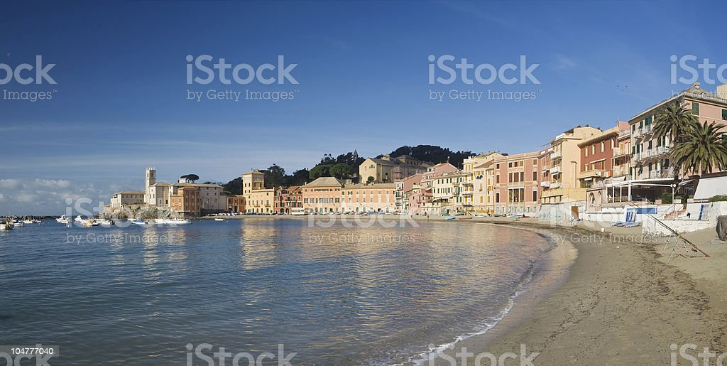Sestri Levante, panoramic view stock photo