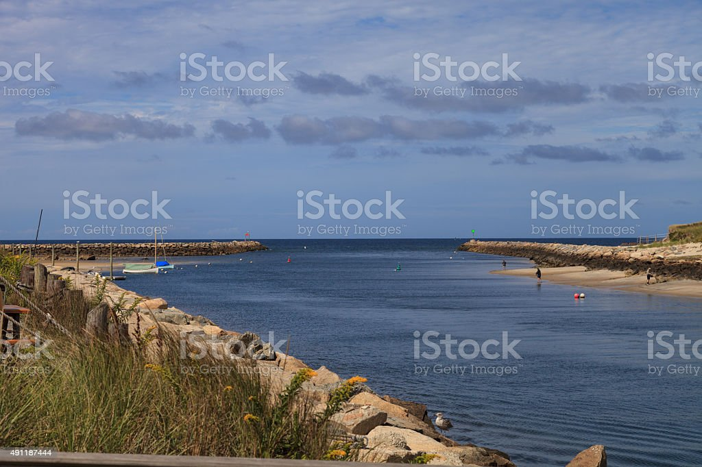Sesuit Harbor on Cape Cod stock photo