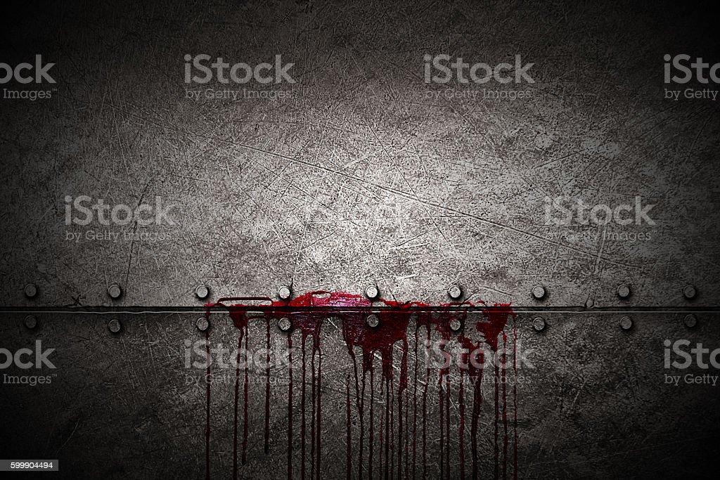 set 8. bloody metal wall stock photo