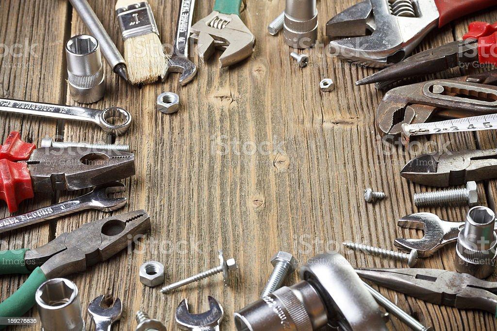 Set building tools royalty-free stock photo