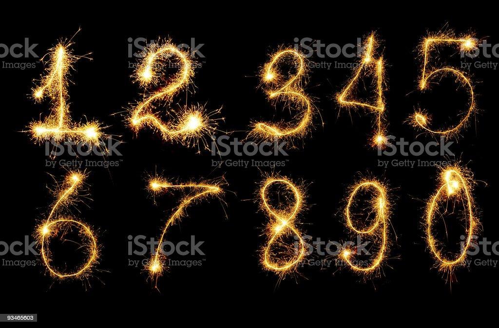 set fireworks figure stock photo