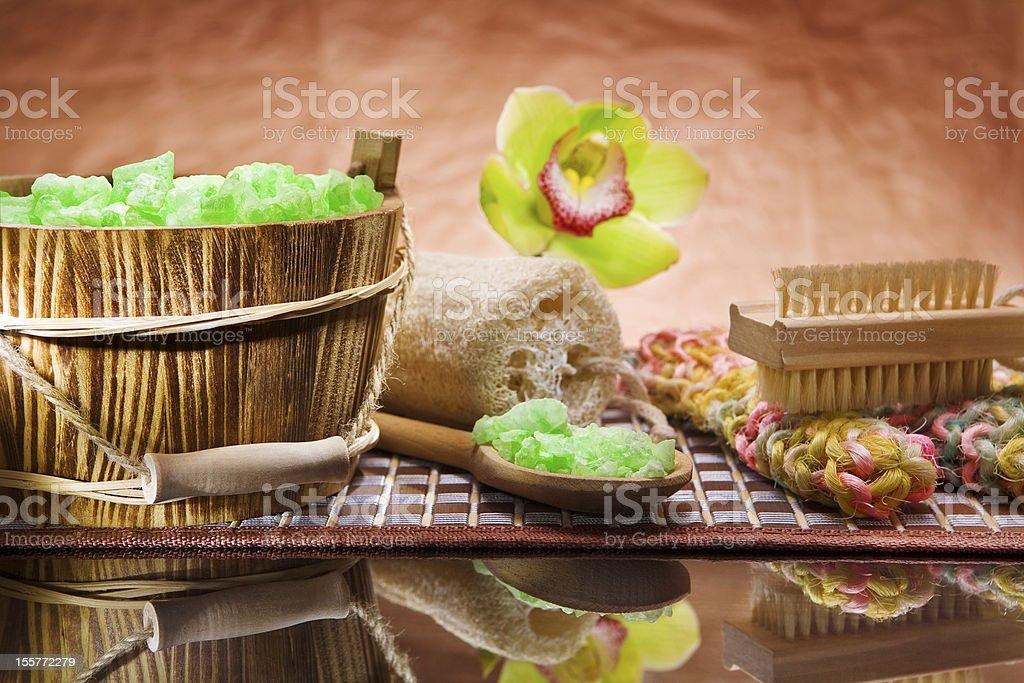 set for bathing stock photo