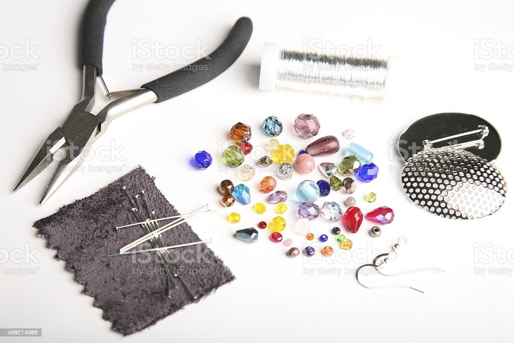 Set for brooch making stock photo